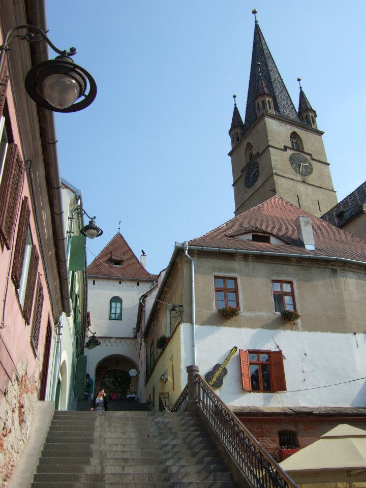 Staired street in Sibiu