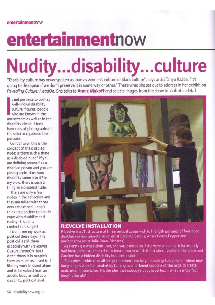 Disability Now  August 2011