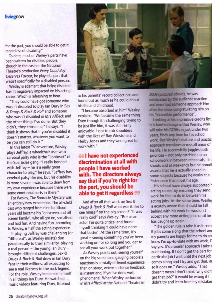Disability Now   January 2011