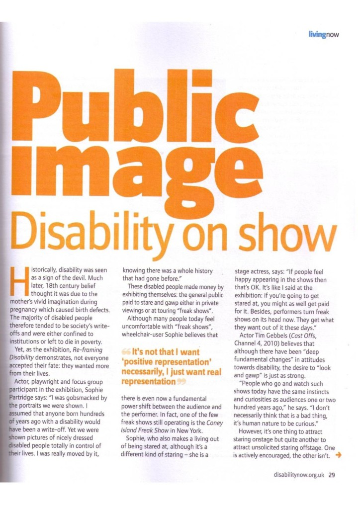 Disability Now   July 2011