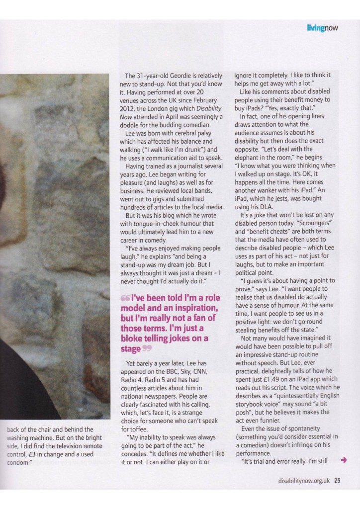 Disability Now   June 2012