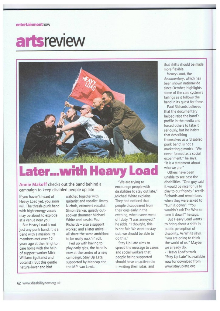Disability Now  March 2009