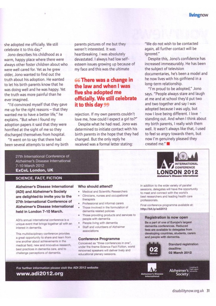 Disability Now March 2012