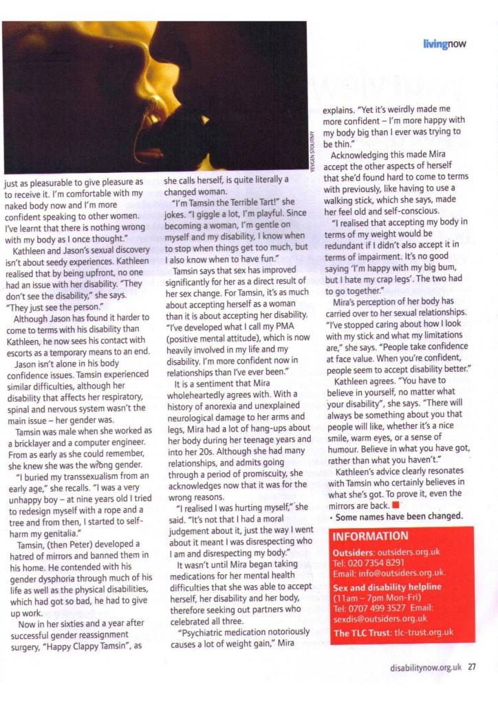 Disability Now   September 2011