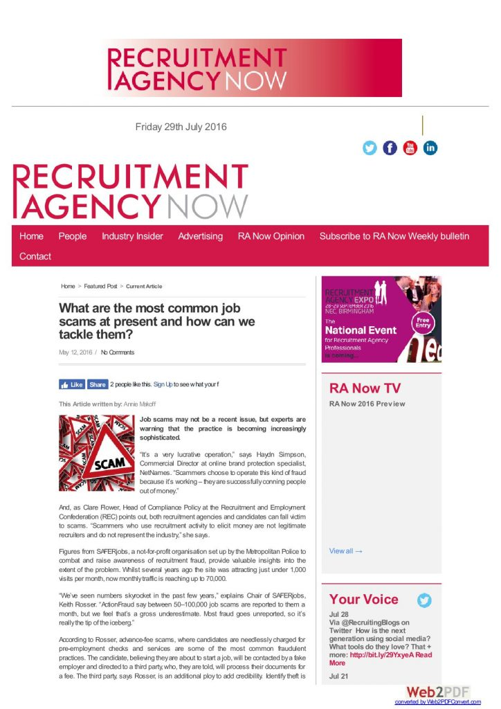 Recruitment Agency Now   May 2016
